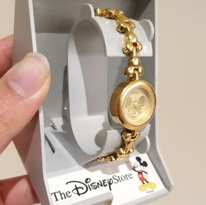 Vintage Disney Mickey Mouse Ladies gold watch